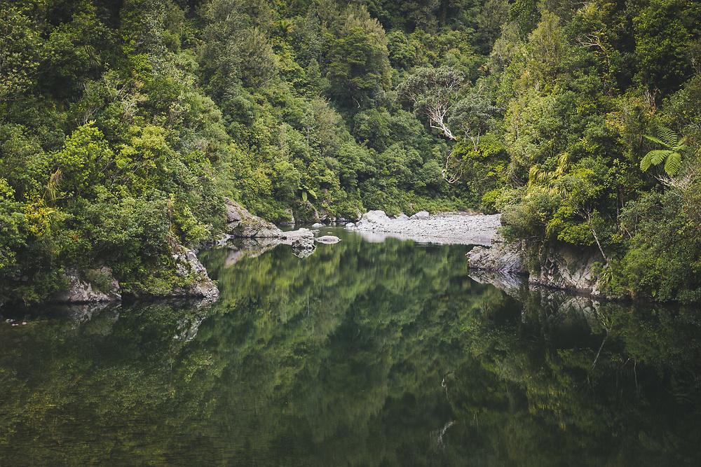 Otaki river mirroring in still morning