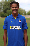 AFC Wimbledon defender Toby Sibbick (20) during the AFC Wimbledon 2018/19 official photocall at the Kings Sports Ground, New Malden, United Kingdom on 31 July 2018. Picture by Matthew Redman.