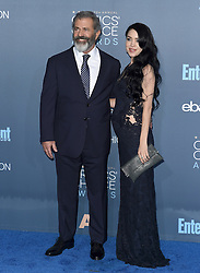 Stars attend the 22nd Annual Critics Choice Awards in Santa Monica, California. 11 Dec 2016 Pictured: Mel Gibson, Rosalind Ross. Photo credit: Bauer Griffin / MEGA TheMegaAgency.com +1 888 505 6342