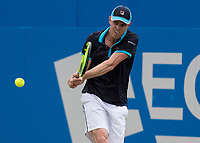 Tennis - 2017 Aegon Championships [Queen's Club Championship] - Day Four, Thursday <br /> <br /> Men's Singles: Round of 16 - Jordan THOMPSON (AUS) vs Sam QUERREY (USA)<br /> <br /> Sam Querrey (USA) at Queens Club<br /> <br /> COLORSPORT/DANIEL BEARHAM