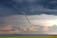 A tornado in its rope phase in Goshen County, Wyoming, June 5, 2009.