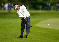 Photograph: Scott Heavey<br />Volvo PGA Championship At Wentworth Club. 23/05/2003.<br />Niclas Fasth lashes at the ball on the 17th.