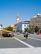 Plaza in front of City Hall, Vilnius, Lithuania
