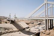 Middle East, Hashemite Kingdom of Jordan, Wadi Mujib nature reserve The bridge over the Mujib river