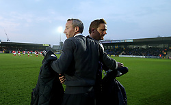 Charlton Athletic manager Lee Bowyer and Afc Wimbledon Manager Neal Ardley