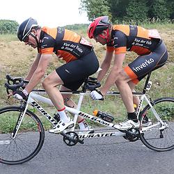 18-06-2017: Wielrennen: NK Paracycling: Montferlands-Heerenberg (NED) wielrennen  <br />Rick Veldkamp (Roden) Eduard Kroon