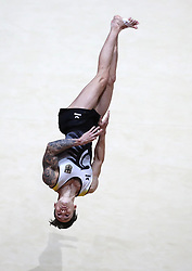 Germany's Marcel Nguyen on the floor in the Men's Apparatus Final during day eleven of the 2018 European Championships at The SSE Hydro, Glasgow. PRESS ASSOCIATION Photo. Picture date: Sunday August 12, 2018. See PA story GYMNASTICS European. Photo credit should read: Jane Barlow/PA Wire. RESTRICTIONS: Editorial use only, no commercial use without prior permission