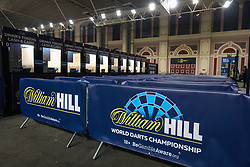 General view of fan zone during day one of the William Hill World Darts Championship at Alexandra Palace, London. PRESS ASSOCIATION Photo. Picture date: Thursday December 14, 2017. See PA story DARTS World. Photo credit should read: Steven Paston/PA Wire. RESTRICTIONS: Use subject to restrictions. Editorial use only. No commercial use. Call +44 (0)1158 447447 for further information.