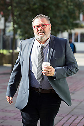 © Licensed to London News Pictures. 27/06/2016. Leeds UK. Dean Michael Betteridge arrives at Leeds Crown Court this morning for sentence. Front man for the 80's pop group Black Lace Dean Michael Betteridge & his wife Karen are to be sentenced today after admitting claiming more than £25,000 in disability benefits while he was singing with the pop group. Photo credit: Andrew McCaren/LNP