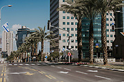 The outbreak of COVID-19 has forced governments around the world to impose a civil quarantine. The outcome of this are empty streets and public places. Photographed in downtown Tel Aviv, Israel on April 8th 2020