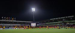 Overbevisende 6-0 føring til FC Nordsjælland under kampen i 3F Superligaen mellem FC Nordsjælland og AC Horsens den 19. februar 2020 i Right to Dream Park, Farum (Foto: Claus Birch).