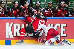 Sidney Crosby of Canada vs Jan Kolar of Czech Republic during Ice Hockey match between Canada and Czech Republic at Semifinals of 2015 IIHF World Championship, on May 16, 2015 in O2 Arena, Prague, Czech Republic. Photo by Vid Ponikvar / Sportida