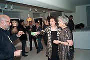 SUZY MENKES; JOAN BURSTEIN, BROWN'S 40TH ANNIVERSARY DINner. Regent Loft and Penthouses. Marshall St. London. 13 May 2010. -DO NOT ARCHIVE-© Copyright Photograph by Dafydd Jones. 248 Clapham Rd. London SW9 0PZ. Tel 0207 820 0771. www.dafjones.com.