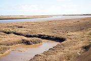 Havergate Island, River Ore, Orford Ness spit, salt marsh, Suffolk