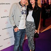 NLD/Amsterdam/20110204 - Modeshow Bjorn Borg 2011, Jaap Reesema en partner Bo mulder