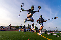 The Granite Bay High School Varsity Lacrosse team plays Jesuit High School in the play offs,  Tuesday, May 5, 2015.<br /> Photo Brian Baer