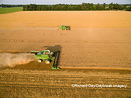 63801-11503 Combines harvesting wheat-aerial Marion Co.  IL