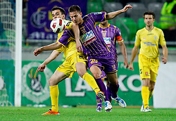 Mato Simunovic of Domzale vs Goran Cvijanovic of Maribor during football match between NK Domzale and NK Maribor in final match of Hervis Cup, on May 25, 2011 in SRC Stozice, Ljubljana, Slovenia. Domzale defeated Maribor and became Slovenian Cup Champion 2011. (Photo By Vid Ponikvar / Sportida.com)