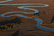 Aerial view of the tidal marsh behind the Isle of Palms in Charleston, SC