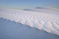 Salt Basin gypsum sand dunes, Guadlupe Mountains National Park