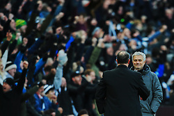 Newcastle United fans cheer at full time as Manchester United manager Jose Mourinho shakes hands with Newcastle United manager Rafa Benitez - Mandatory by-line: Matt McNulty/JMP - 11/02/2018 - FOOTBALL - St James Park - Newcastle upon Tyne, England - Newcastle United v Manchester United - Premier League