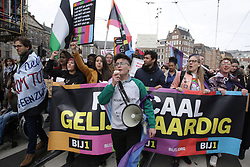 March 23, 2019 - Amsterdam, Netherlands - Thousands people take part during 'Together Against Racism' demonstration on March 23, 2019 in Amsterdam,Netherlands. The march is organised by the group Committee March 21, anti-racism coalition, as an expression of unity against racism, Islamophobia and anti-Semitism. (Credit Image: © Paulo Amorim/NurPhoto via ZUMA Press)