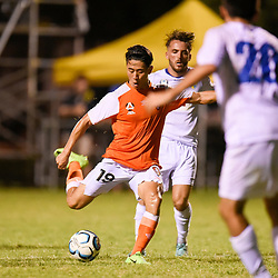 BRISBANE, AUSTRALIA - FEBRUARY 10: Nathan Yoon of the Roar shoots on goal during the NPL Queensland Senior Mens Round 2 match between Gold Coast United and Brisbane Roar Youth at Station Reserve on February 10, 2018 in Brisbane, Australia. (Photo by Football Click / Patrick Kearney)