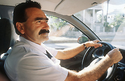 Taxi driver at work,