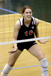27 October 2006: Bear Haleigh Spencer. The Bears won the match 3 games to 1. The match between the Washington University Bears and the Illinois Wesleyan Titans took place at Shirk Center on the IWU campus in Bloomington Illinois.<br />