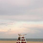 Lifeguard Chair on the Beach in Cape May, NJ