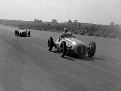 File photo dated 02-10-1948 of Luigi Villoresi leads Scuderia Ambrosiana team-mate Alberto Ascari during the 1948 RAC International British Grand Prix at Silverstone.