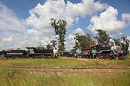 Steam locomotives in Ciego de Avila, Cuba.