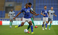 Cardiff City's Curtis Nelson battles with Blackburn Rovers' Dominic Samuel<br /> <br /> Photographer Ian Cook/CameraSport<br /> <br /> The EFL Sky Bet Championship - Cardiff City v Blackburn Rovers - Tuesday 7th July 2020 - Cardiff City Stadium - Cardiff <br /> <br /> World Copyright © 2020 CameraSport. All rights reserved. 43 Linden Ave. Countesthorpe. Leicester. England. LE8 5PG - Tel: +44 (0) 116 277 4147 - admin@camerasport.com - www.camerasport.com