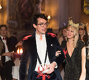 CHRISTOPHER RAMSAY; LAUREN PARK, Ball at to celebrateBlanche Howard's 21st and  George Howard's 30th  birthday. Dress code: Black Tie with a touch of Surrealism. Castle Howard. Yorkshire. 14 November 2015