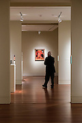 """Cuban born artist Jose Bernal's """"It's Read,"""" 1962 peers down the gallery hall for art lovers at Cameron Art Museum in Wilmington, NC during their exhibition that runs through February 2016. PHOTO BY:  JEFF JANOWSKI PHOTOGRAPHY"""