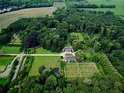 Nederland, Overijssel, Gemeente Zwolle, 21–06-2020; Landgoed Windesheim. Van de voormaligehavezateHuis te Windesheim resten nog (slechts) twee bouwhuizen.<br /> Windesheim estate. Only two assistance houses are left from the former manor house Windesheim.<br /> <br /> luchtfoto (toeslag op standaard tarieven);<br /> aerial photo (additional fee required)<br /> copyright © 2020 foto/photo Siebe Swart