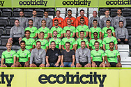 Forest Green Rovers 1st team squad photo 2018/19 with sponsor Sea Shepherd during the 2018/19 official team photocall for Forest Green Rovers at the New Lawn, Forest Green, United Kingdom on 30 July 2018. Picture by Shane Healey.