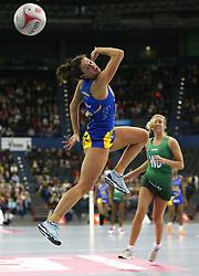 Team Bath Netball's Rachael Shaw in action during the Vitality Netball Superleague Super Ten match held at Arena Birmingham