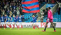 Fotball<br /> Ullevaal Stadion 18.10.15<br /> Vålerenga VIF - Sarpsborg 08<br /> Duwayne Kerr ser vif juble etter tabbe<br /> Foto: Eirik Førde