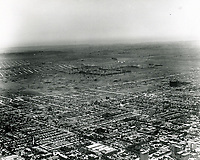 1924 Aerial looking SW from Franklin Ave. & Gower St. at Rancho La Brea Oil Co. (center of photo)