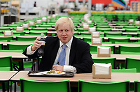 Olympic Athletes Village Oylmpic games 12/07/2012 Credit : Colorsport / Andrew Cowie<br /> London Mayor, Boris Johnson eats in the  the Athletes Village.dining room