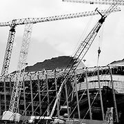 Construction process of the Kauffman Performing Arts Center in the Summer of 2010.