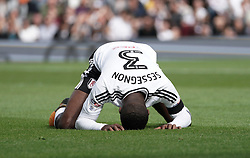 Fulham's Ryan Sessegnon reacts in frustration after taking a shot at goal