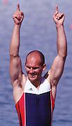 2000 Sydney Olympic Game, Olympic Regatta, Penrith Lakes, Penrith, NSW. AUSTRALIA:   NOR M2X Silver medallist, stroke  BEKKEN, Fredrik. Peter Spurrier. .email images@intersport-images... 2000 Olympic Regatta Sydney International Regatta Centre (SIRC) 2000 Olympic Rowing Regatta00085138.tif