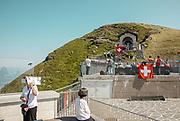SWITZERLAND: MONTE GENEROSO ON THE 1ST OF AUGUST NATIONAL CELEBREATION , architect Mario Botta