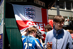 © Licensed to London News Pictures. 29/05/2021. Porto, UK. Chelsea fans gather near the Estádio do Dragão stadium in Porto, Portugal ahead of the Champions League final between Chelsea FC and Manchester City FC. Photo credit: Teresa Nunes/LNP