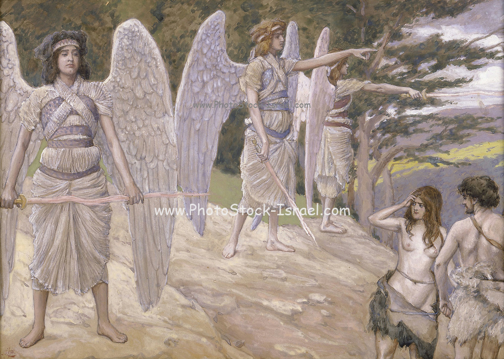 Adam and Eve Driven From Paradise James Jacques Joseph Tissot (1896, gouache on board)