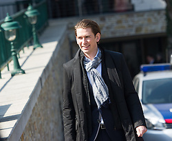 23.03.2015, Steigenberger Hotel, Krems, AUT, Bundesregierung, Regierungsklausur, im Bild Bundesminister für europaeische und internationale Angelegenheiten Sebastian Kurz (ÖVP) // Foreign Minister of Austria Sebastian Kurz (OeVP) during convention of the austrian government at Steigenberger hotel in Krems, Austria on 2015/03/23, EXPA Pictures © 2015, PhotoCredit: EXPA/ Michael Gruber