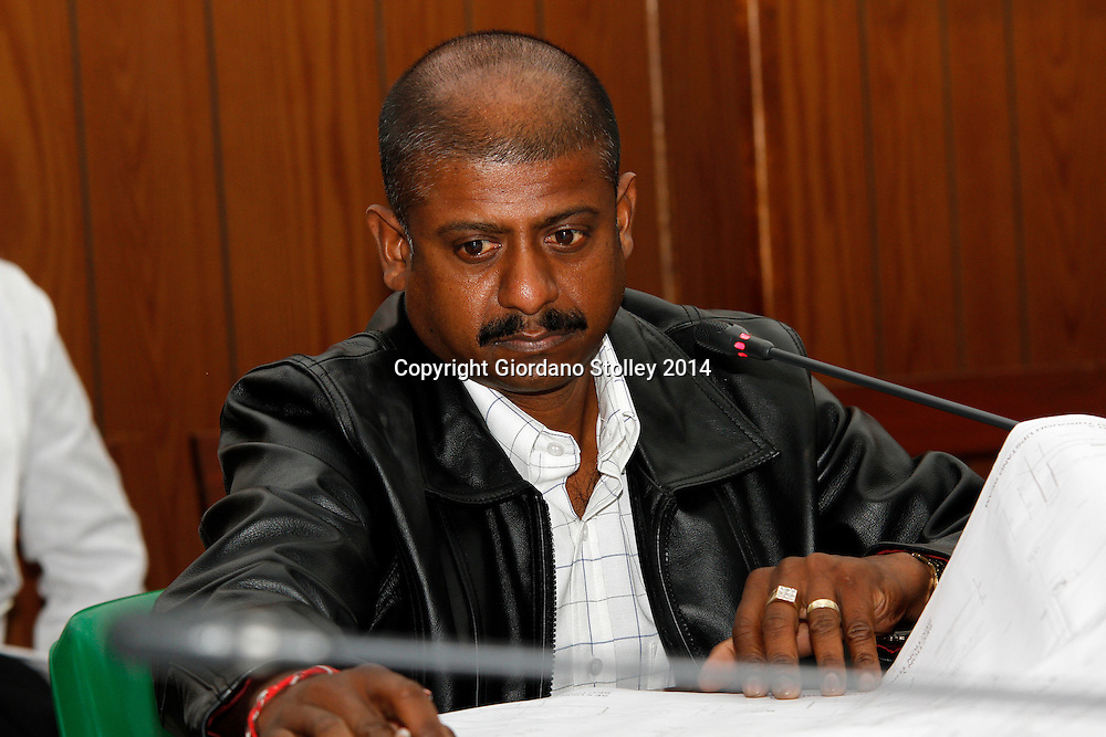 DURBAN - 23 July 2014 - Ronnie Pillay, a site foreman for Gralio Precast (Pty) Ltd answers questions at a Department of Labour commission of inquiry established to probe the events that led to a Tongaat Mall collapsing, killing two people and injuring 29 on November 19, 2013. Pillay was working on the construction site on the day it collapsed. Picture: Allied Picture Press/APP