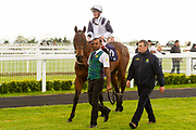 Perregrin ridden by Franny Norton and trained by Mark Johnston in the CB Protection Novice Median Auction Stakes.  - Ryan Hiscott/JMP - 06/05/2019 - PR - Bath Racecourse- Bath, England - Kids Takeover Day - Monday 6th April 2019